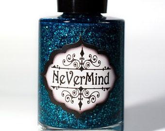 Apatite - Turquoise Holo Glitter Nail Polish - Blue Aqua Holographic Glitter Nail Lacquer - All That Glitters