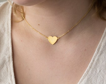 Vintage Gold Heart Necklace