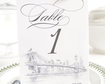 New York Skyline Table Numbers (1-10)