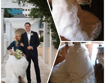 2 Piece wedding dress, country wedding dress - wedding skirt