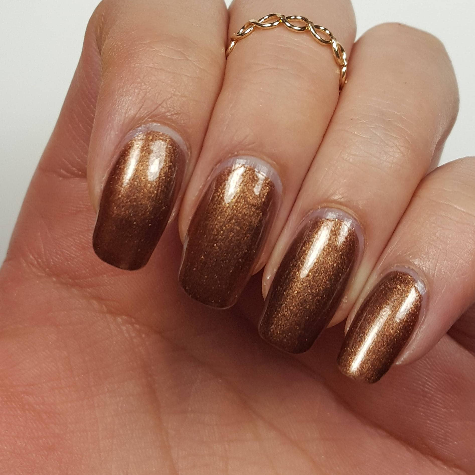 SHIMMERY DARK BROWN Nail Polish w/ Pink Red Sparks 5-Free Base ...