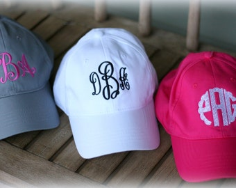 Ladies  Monogrammed Baseball Hat-Monogrammed Women's monogram Cap-Embroidered Hat-Personalized Hat-2018 New Color Khaki