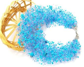 Nautical jewelry aqua blue necklace mermaid jewelry something blue jewelry Beach jewelry mermaid necklace sea jewelry aquamarine necklace