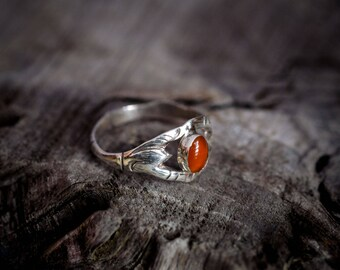 Carnelian Ring, 925 Sterling Silver, Handmade Ring