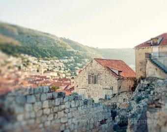 croatia photography, dubrovnik, architecture, cottage, orange decor, beige decor, travel photography, europe art D05