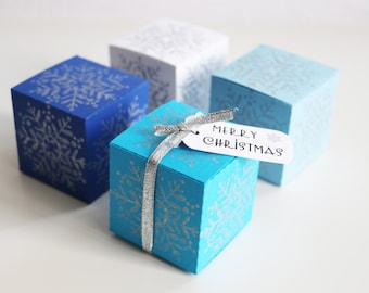 Christmas Gift Box, Winter Gift Box, Frozen Party, Christmas Table Decor, Snowflake Gift Boxes, Table Scaters, Christmas Tree Ornaments