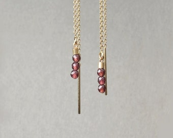 Garnet Earrings * and 14-Karat Gold *.