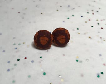 Fall | Autumn | Acorn Button Earrings