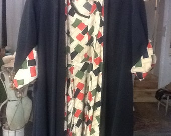 Vintage 1940's Dress With Matching Coat