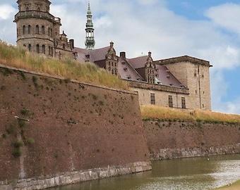Castle Photography. Scandinavian Travel Photos Kronborg Hamlet's Castle Print, Helsingor Denmark, Danish Wall Art 5x7, matted, 8x10 In Stock