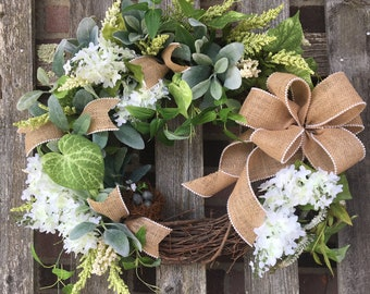 Spring/Summer Lilac and Pearl Wreath