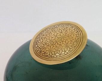 Art jewelry,Gold brooch,modern ethnic jewelry,Gold art jewelry,Unique jewelry,Metalsmith jewelry,Gold ethnic statement,Artisan jewelry.