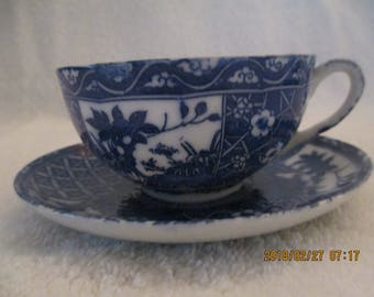 Unmarked Tea Cup and Saucer