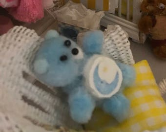 Handmade Dollhouse Miniature Care Bear Plush Child's Toy