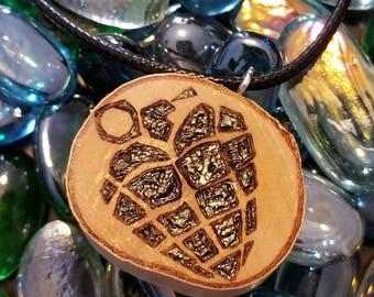 Heart Grenade necklace