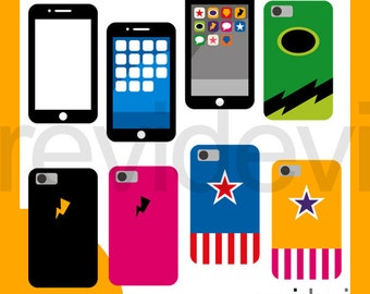 Superhero smartphone clipart commercial use / gadget mobile phone clip art download / handphone digital images