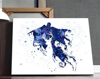 Dementor watercolor - Harry Potter decor, Art Print, Dementor decoration, Kids Room Decor, Watercolor Painting, Nursery decor