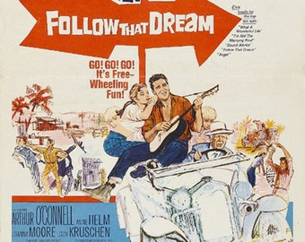 Follow that dream 1962 Elvis Presley movie poster reprint 19x12.5 inches