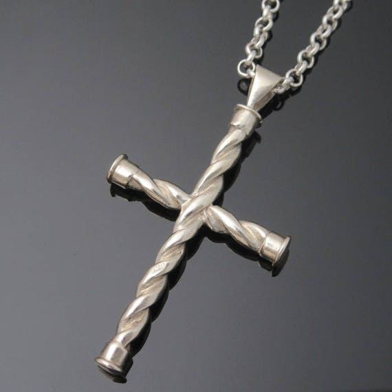 Sterling Silver Celtic Twisted Cross - Silver Cross - Irish Jewelry - Unique Jewelry - Made in Ireland