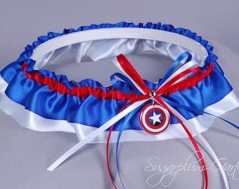 Captain America Wedding Garter