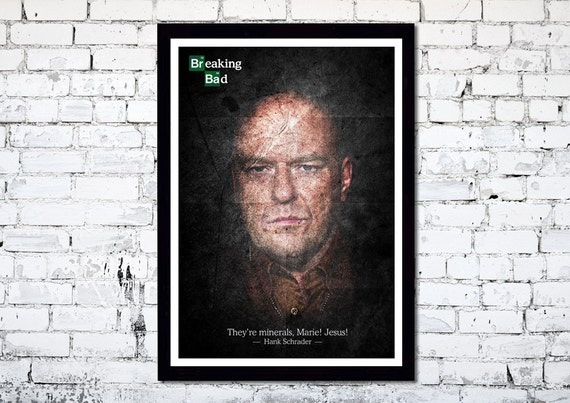 Breaking Bad // Hank Schrader // Dean Norris // Unique Art Print