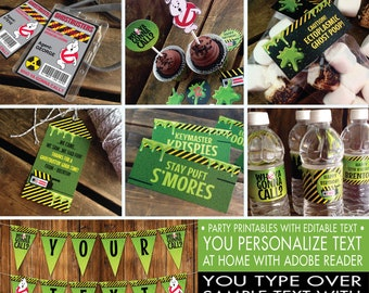 Ghost-busters Party Set - Ghostbuster Birthday, Ghostbuster Party, Ghostbuster Decor | INSTANT Download Printable PDFs