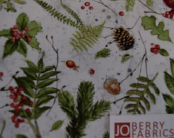 Winter Foliage from the Friendly Gathering Collection by Michael Davis for Wilmington Prints, Quilt or Craft Fabric.  Fabric by the Yard.