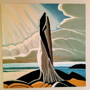 Lawren Harris HUGE Reproduction Painting Art North Shore Lake Superior by  Valerie Koudelka 48x48