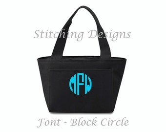 Personalized Cooler, Lunchbox, Insulated Lunch bag, Insulated lunch tote  - 16 Colors Available