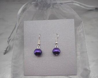 Simple Pearl Earrings, Chunky Pearl Earrings, Pearl Drop Earrings, Pearl Earrings, Silver Earrings, Gold Earrings, Rose Gold Earrings 4110H