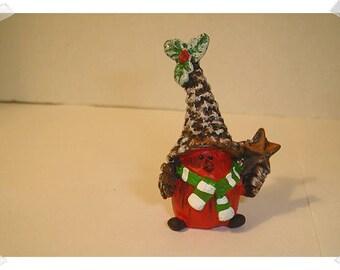 Tiny Resin Christmas Bird/ Resin / Minis/Supplies*
