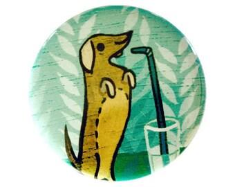 DACHSHUND pocket mirror - doxie dachshund gift idea by boygirlparty, dachshund purse mirror, dachshund lover cosmetic mirror doxie dog