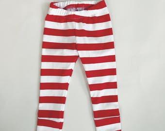 Red and White stripe Leggings - Baby & Toddler Leggings