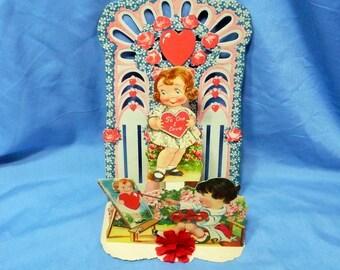 Vintage Victorian 3D Card Valentine, Artist, Germany