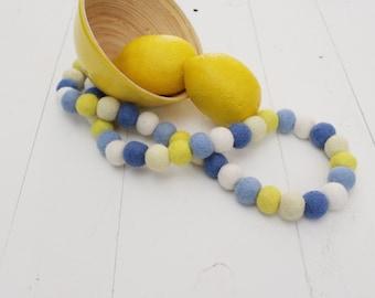 """Handmade 32"""" Summer Felt Ball Garland"""
