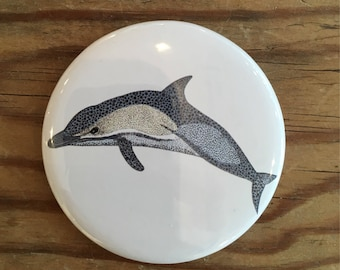 Dolphin mirror, Pocket mirror, Compact mirror, Nautical gift, Party bag filler, Party favour, Wedding favour, Bridesmaid gift, Dolphin gift