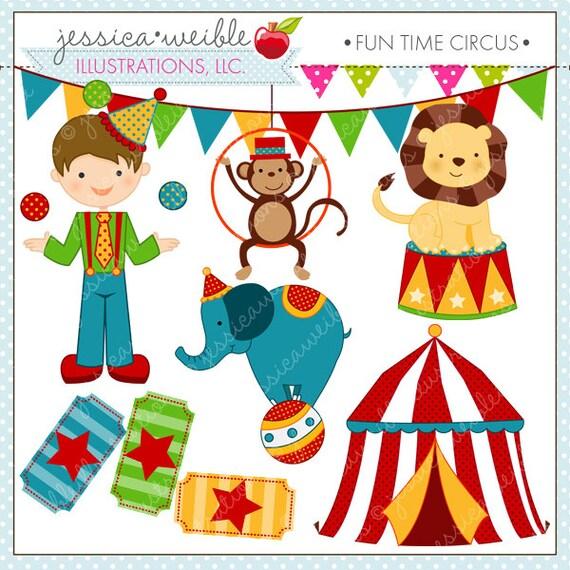 fun time circus cute digital clipart circus clip art instant rh etsy com free clipart circus clowns free circus clipart images