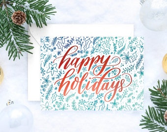 DISCOUNTED Christmas Cards - Holiday Cards - Merry Christmas - Holiday Greeting Cards - Happy Holidays - Warm Christmas Wishes