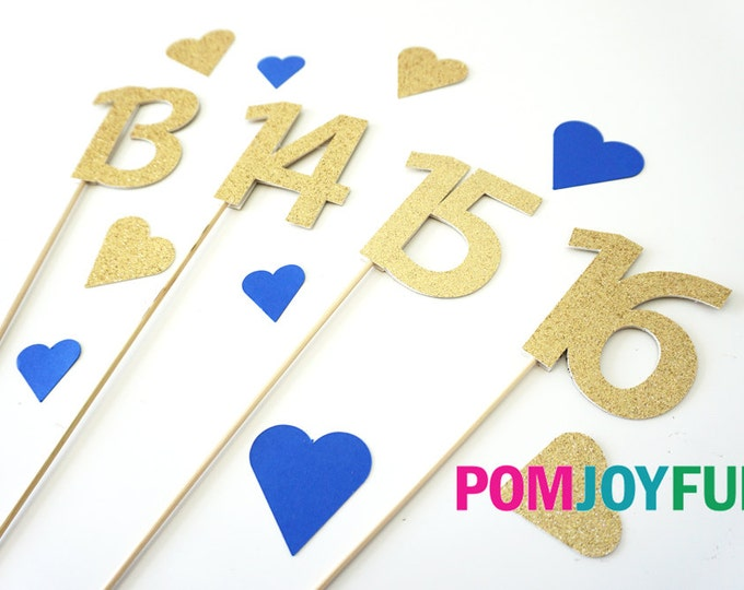 Glitter Table Numbers, Glitter Wedding Table Numbers, Pick your Party Picks, Single Numbers, Glitter Number Cake Toppers, Number Stakes