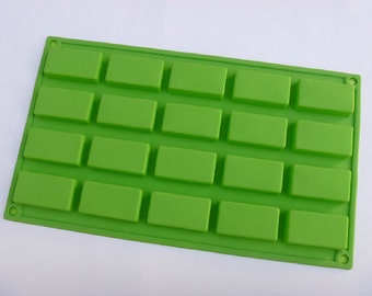 20-cavity Oblong Rectangle Cake Mold Mould Silicone Mold Biscuit Mold Chocolate Mold Soap Mold
