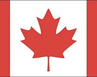 Country Flag Of Canada Sticker (Canadian Maple Decal)