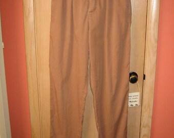 vintage cocoa Calvin Klein pants 1960s size 12