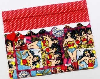 Wonder Woman Cross Stitch Embroidery Project Bag