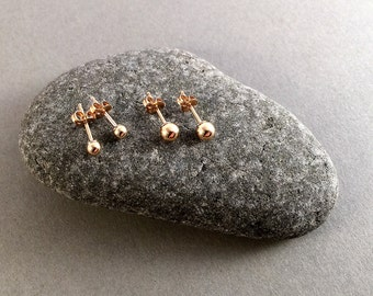 Tiny gold stud earrings, Gold earrings, 14k goldfilled post earrings, Gold pebble earrings, Simple gold stud earrings, Small round posts