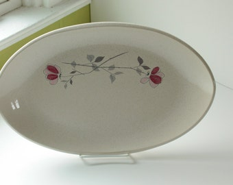 Large Franciscan Duet Oval, Oblong, Serving Platter, California Pottery, Mid Century Modern Design, Excellent Condition, 1950s
