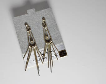 Vintage Sterling Silver Earrings from Sears // Vintage Earrings
