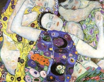 Gustav Klimt: The Virgin/The Maiden. Fine Art Print/Poster (00648)