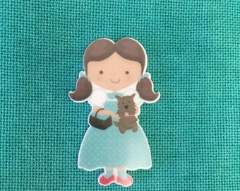 Wizard of Oz Dorothy and Toto Flat Resin Needle Minder