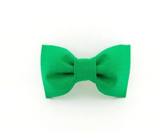 Green Dog Bow Tie, Green Collar Flower, Dog Bow Tie. Green Collar Bow, Green Cat Bow Tie, Green Wedding Bow