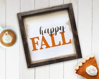 Happy Fall Farmhouse Sign, Happy Fall Sign, Rustic Decor, Fall Sign, Autumn Decor, Fall Decor Wood Sign
